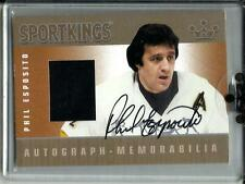 Phil Esposito 2009 Sportkings Autograph Game Used Jersey (Silver Version)