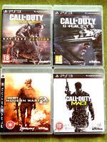 Call of Duty  MW2, MW3, Ghosts, Advanced Warfare (PlayStation 3, PS3)