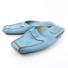 CHANEL Sandals blue leather Women