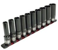 "TTI 1/4"" DRIVE METRIC IMPACT SOCKET SET TT14D10ISSM 10Pcs 4-13mm Polished Finish"