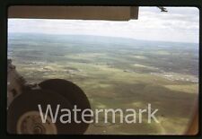1970s Kodachrome Photo slide  Australia #17 Airplane wing view  landing gear