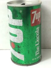 Vintage 7up Can Mid Continent Bottlers Des Moines Iowa Pull Tab Top Empty