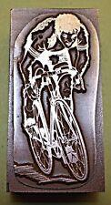 "Un ""RACING Ciclista"" blocco di stampa."