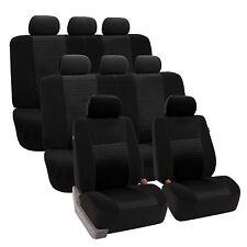 3Row Set 8 Seaters SUV Van Seat Cover Set  BLACK Auto
