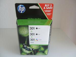 CH561EE ORIGINAL 2 x HP 301 Black + Color for DJ DESKJET 1000 1050 2000 2050
