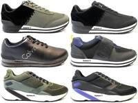 Sneakers Uomo S0497 Nero e Blu Scarpa Sportiva Casual