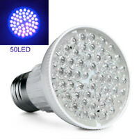 Ultra Helle E27 3W UV Ultraviolett Farbe lila Licht 50LED Lampe Birne 110/220V