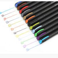 12pcs color pen set fine line drawing pen porous fine point markers 0U