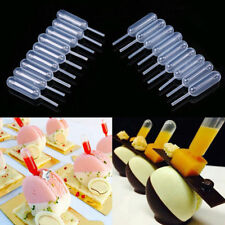 50x 4ml Clear Plastic Squeeze Transfer Pipettes Cake Cream Decor Liquid Dropper