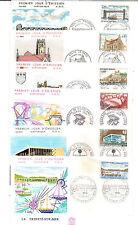 N°135- lot de 6 enveloppes 1er jours 1968 - villes et sites -très bon état
