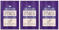 (3) Aussie Miracle Curls Nourishing Hair Mask With Coconut Jojoba Oil 1.7 oz