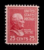 US Stamps, Scott #829 25c single VF/XF M/NH. Fresh & nice gum. 1939 Pres Issue
