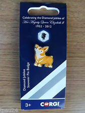 Corgi GS62501 Diamond Jubilee Pin Badge - Corgi Dog