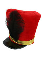 Adult Nutcracker Toy Soldier Guard English Hat Costume Marching Band Majorette