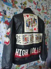Vintage 80's High Roller By TROOP Rap Hip Hop LL Cool J poker Leather Jacket L