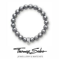 Genuine Thomas Sabo club silver 925 hematite charm carrier bracelet 15cm & box