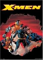 X-MEN ~ ASTONISHING BLAST 22x34 COMIC ART POSTER Marvel Cyclops Beast NEW/ROLLED