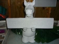 Ready to Paint Ceramic Welcome Smiling Horse