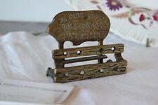 Old English postmen Brass/Door Business Cards Desk