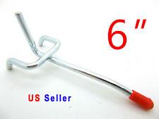 """Lot of 50 pc 6"""" Peg Board Hooks Shelf Hanger Kit Garage Storage Hanging 6"""" x1/8"""