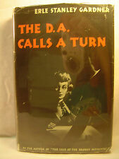 Erle Stanley Gardner THE D.A. CALLS A TURN First edition 1944 Scarce Mystery dj