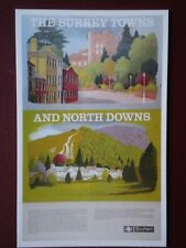 POSTCARD THE NORTH DOWNS & THE SURREY TOWNS POSTER