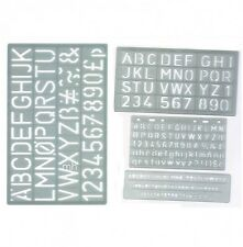 5mm 10mm 20mm & 30mm SET 4 UPPER CASE ALPHABET & NUMBER LETTERING STENCIL  CRAFT