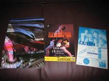 Queen 1985 Japan Tour Book Concert Program with Dbl Flyer Freddie Mercury