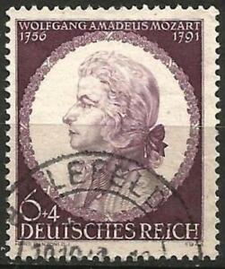 Germany (Third Reich) 1941 Used - 150th Death Anniv Composer  W.A. Mozart