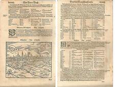 1588 MUNCHEN Cosmographia universalis Sebastian Münster München Munich