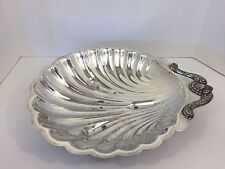 """Vintage Leonard Silverplated XL Clam Shell Shaped Serving Dish 16"""""""