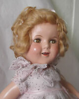 "Vintage 1930s 18"" Composition Ideal Shirley Temple Doll Starburst Dancing Dress"
