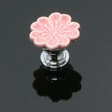 Antique Flower Ceramic Drawer Cupboard Furniture Door Pull Cabinet Knob Handles