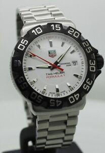 TAG HEUER FORMULA 1 White 41 mm Rotating Bezel Swiss Quartz Watch