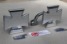 Mercury Plymouth Oldsmobile Custom Maltese Iron Cross Peep Rearview Mirrors