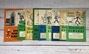 Vintage Reddy Kilowatt's Almanac Recipe Booklets 1950's Housewife Texas Electric