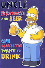 HOMER / SIMPSONS_UNCLE BIRTHDAY CARD_****FREE FIRST CLASS POST****