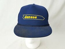 Vtg 1980s Danosa Building Supply Mesh Trucker Snapback Hat