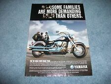 """2001 Yamaha Road Star Motorcycle Ad """"Some Families are More Demanding Than Other"""