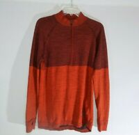 Adidas Climaheat Running Primeknit Sweater Orange Energy/Black Mens Size Large