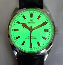 eb723dbdf1f2 Reloj de Pulsera movimiento de la mano de la bobina Vintage No. FHF Tono  Plata 96 Para hombres Esfera Luminosa