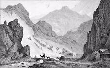 ARMÉNIE - PORTE de DARIEL (entre GÉORGIE & ARMÉNIE) - Gravure du 19e siècle