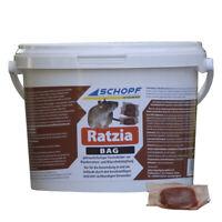 Schopf Ratten und Mäuseköder Rattengift 3 kg Ratzia Bag B 25
