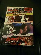 Bloody School Girls Triple Feature Region 1 DVDs- 3 Films. Rare