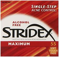6 Pack - Stridex Maximum Strength Medicated Pads For Acne 55 Count Each