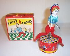 MINT 1960's  TWIST DANCER ROCK N ROLL WIND-UP TIN LITHO TOY JAPAN MIB S&E