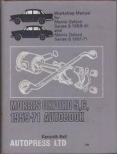 MORRIS OXFORD SERIES 5 & 6 SALOON & TRAVELLER 1959 - 1971 OWNERS WORKSHOP MANUAL