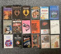 Cassette Tapes Bundle Musicals Film Soundtracks West End Shows Job Lot X 18