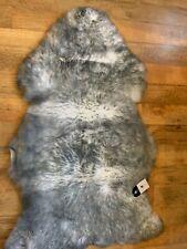 luxury quality hanlins pure wool sheepkin rugs  IVORY GREY TIP