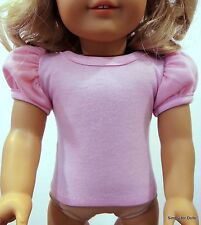 "PINK Solid Puffed Sleeve Knit DOLL SHIRT fits 18"" AMERICAN GIRL DOLL A/Z"